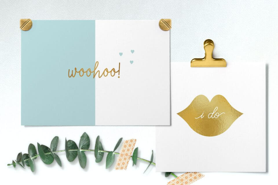 gold leaf teal +100 Engagement Wishes & Quotes