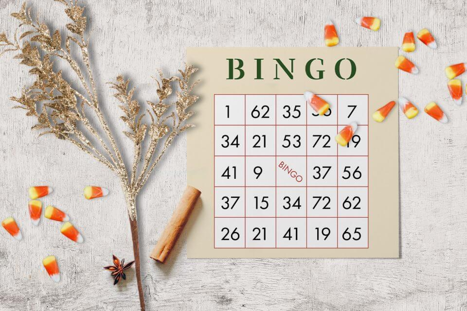 Thanksgiving Bingo family game