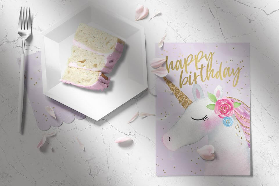 Happy unicorn love messages happy birthday wishes card