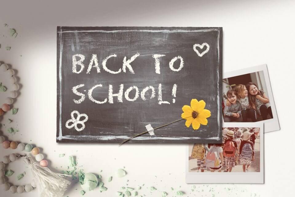 Back to school black board