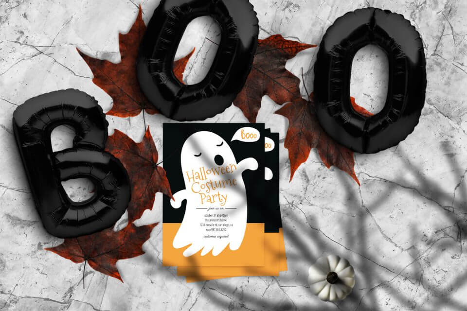 13 Thrilling Halloween Party Themes for Kids boo invitation